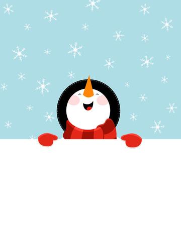 Snowman\'s Message Ilustração