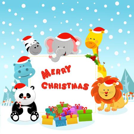 Christmas Animals Ilustração