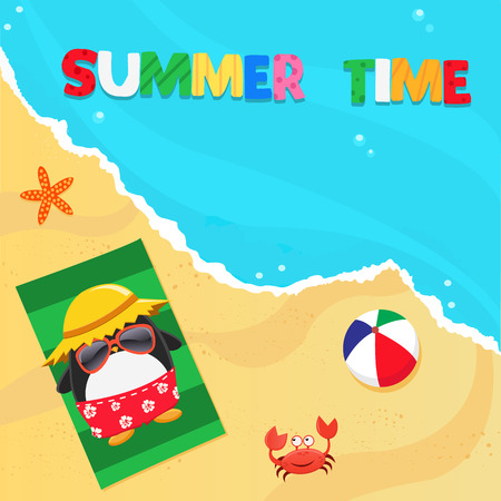 Summer Penguin Ilustração