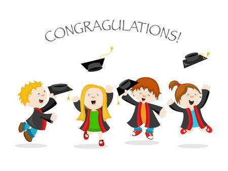 graduacion niños: Graduación Vectores