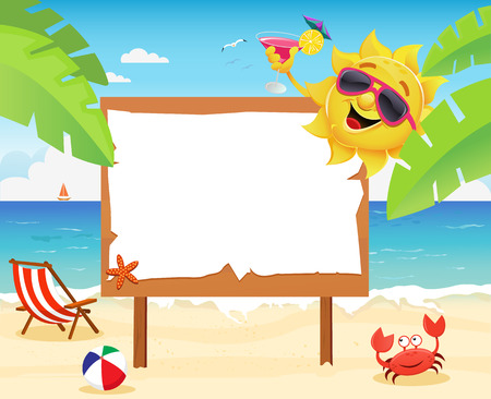 beach vacation: Summer Billboard