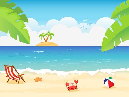 Summer Background  イラスト・ベクター素材