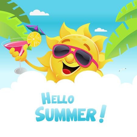 Hello Summer Vetores