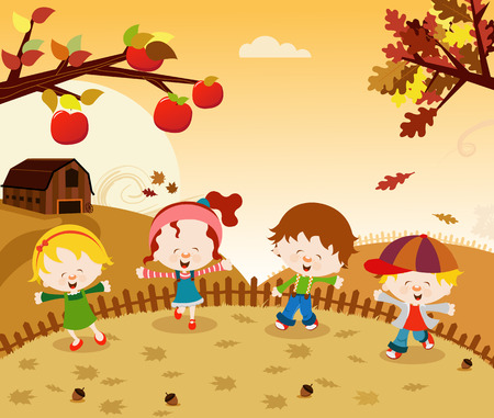 autumn garden: Autumn Kids