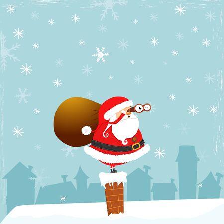 Santa With Binoculars