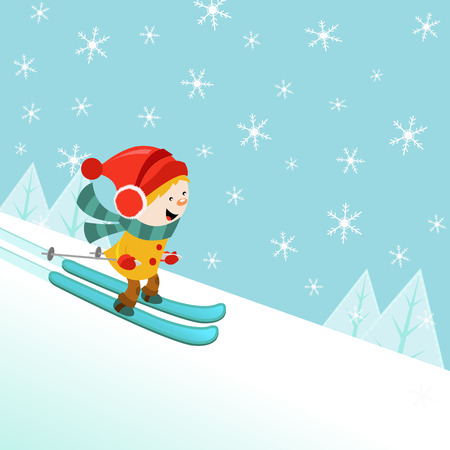 muff: Skiing Kid Illustration