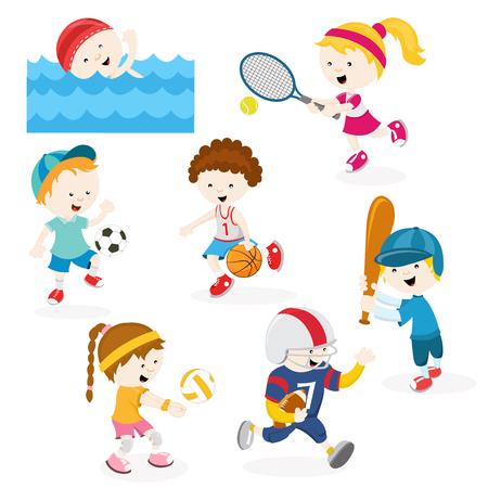 school illustration: Sports Set