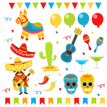 mexican party: Mexican Design Elements