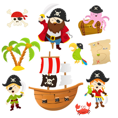 cannon ball: Pirate Set Illustration
