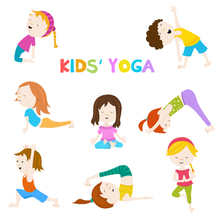 yoga class: Kids Yoga Illustration