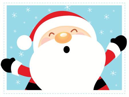 Big Santa With Frame