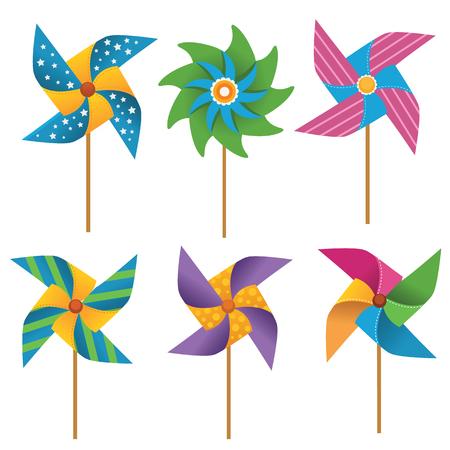 Pinwheel Set Reklamní fotografie - 64214525