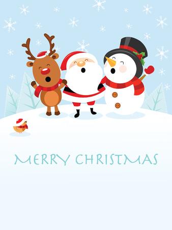 Kerst kaart Vector Illustratie