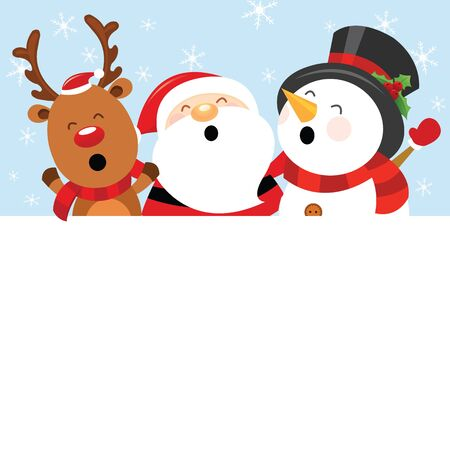 Reindeer Snowman with Blank Paper
