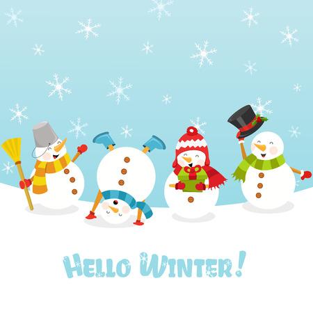 hello winter Ilustracja