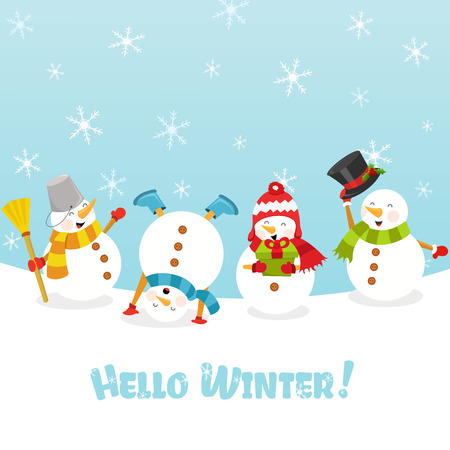hello winter Illustration