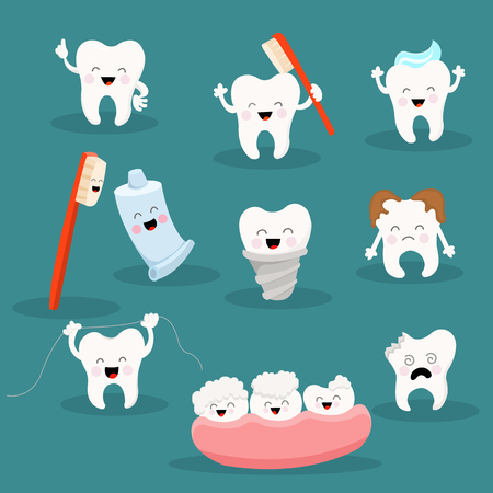 Cute Tooth Character Collection