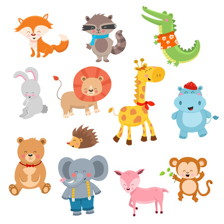 woodland: Cute Animal Collection Illustration