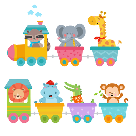 Cute Animals On Train