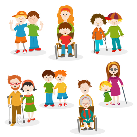 Collection Of Disabled People