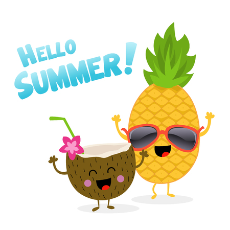 Pineapple and Coconut Celebrating Summer