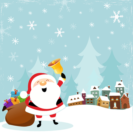 Santa Coming To Town  イラスト・ベクター素材