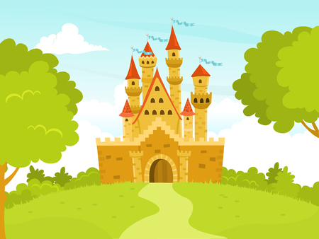 Vector Illustration of A Castle  イラスト・ベクター素材