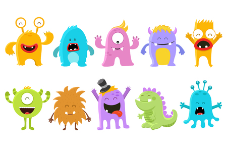 Cute Monster Collection Ilustrace