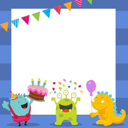 Cute Birthday Monsters Card