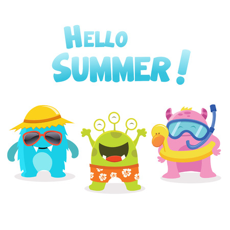 Summer Monsters characters