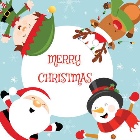 Cute Christmas Card Ilustracja