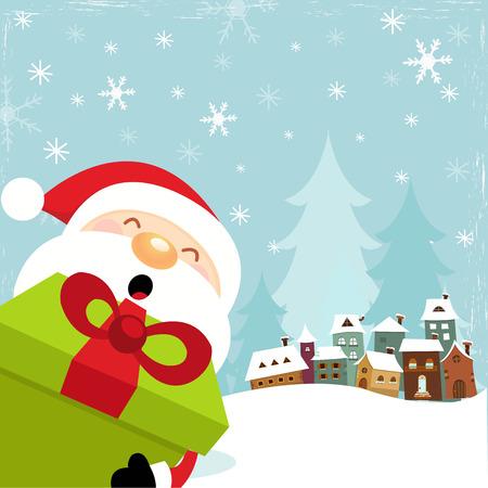 Cute Santa With Big Gift