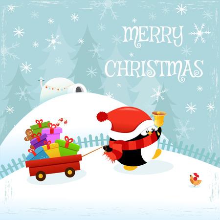 Penguin Delivering Gifts