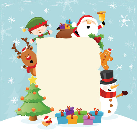 Christmas Template With Characters