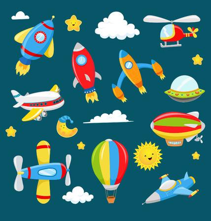 Cute Air Transportation Set