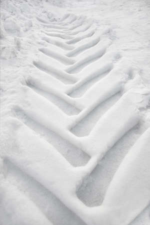 Track from truck tire in snow Stock Photo - 8175163