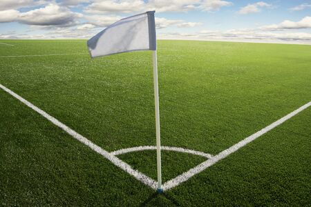 Corner flag on a soccer field photo