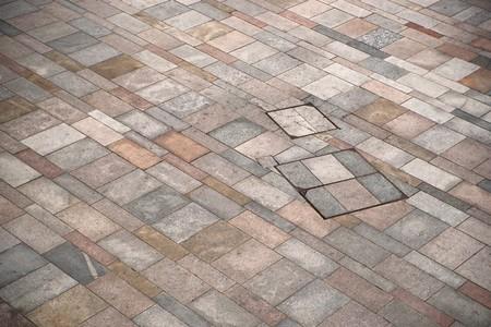 Floor tiles on pedestrian area, with irregular pattern Stock Photo - 8175251