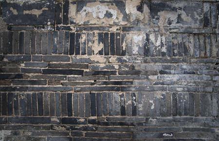 Close up of lack grungy brick wall Stock Photo - 8175247