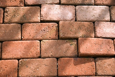Uneven wall with red bricks Stock Photo - 8172136