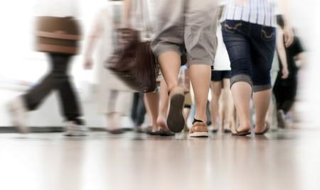 hetzen: Rush Hour in der u-Bahn, verschwommen Bewegung