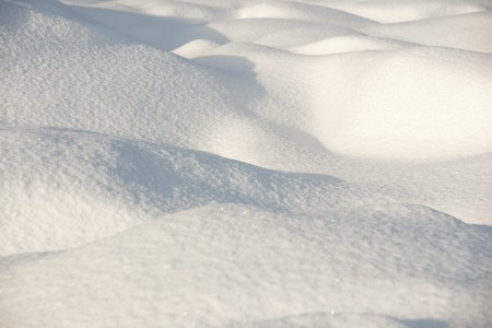 fresh snow: Snow surface in evening light Stock Photo