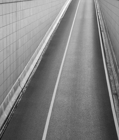 Asphalt road, entrance to underground garage seen from above Stock Photo - 8175559