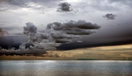 Dramatic sky over the sea late at night Stock Photo - 8308367