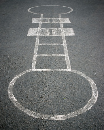 hopscotch on the school yard photo