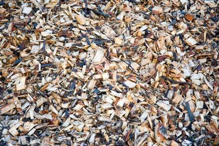 wood shavings: Wood shavings to be used as bio fuel Stock Photo