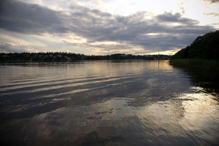 A lake in the late evening after sunset Stock Photo - 8311064