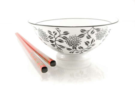 chinese bowl and chopsticks Stock Photo - 8304919
