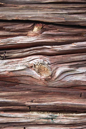 Very old Knotted wooden wall photo