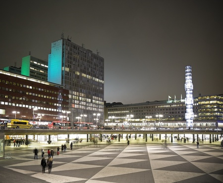 Sergels Torg, the main square in Stockholm city, photo